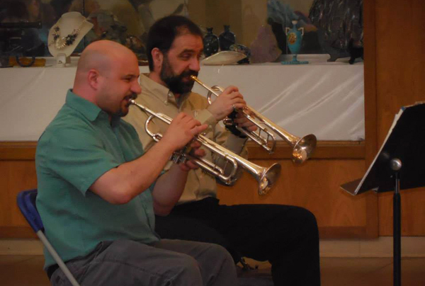 Chris & Sal at Brass Quintet gig