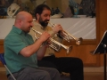 Chris & Sal at Brass Quintet gig